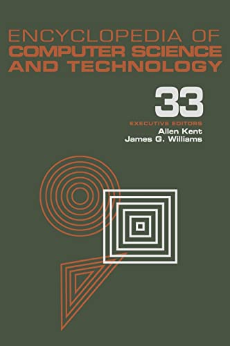 Encyclopedia of Computer Science and Technology: Volume 33 - Supplement 18: Case-Based Reasoning to...