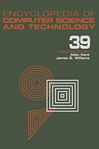 Encyclopedia of Computer Science and Technology: Entity Identification to Virtual Reality in ...