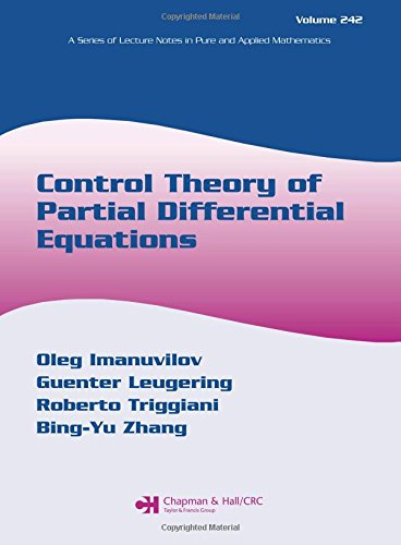 9780824725464: Control Theory of Partial Differential Equations (Lecture Notes in Pure and Applied Mathematics)