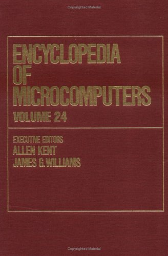 9780824727222: Encyclopedia of Microcomputers: Volume 24 - Supplement 3: Characterization Hierarchy Containing Augmented Characterizations to Video Compression (Microcomputers Encyclopedia)