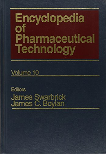 9780824728090: Encyclopedia of Pharmaceutical Technology: Volume 10 - Microsphere Technology and Applications to Nuclear Magnetic Resonance in Pharmaceutical Technology (Pharmaceutical Technology Encyclopedia)