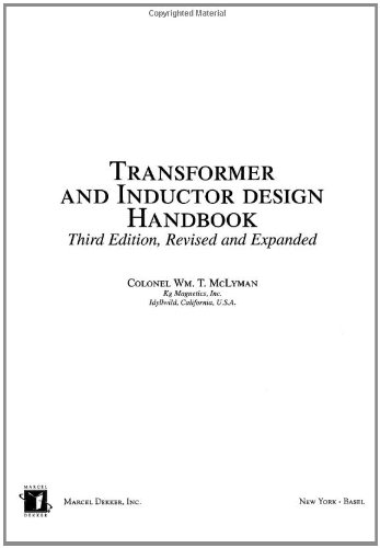 9780824753931: Transformer and Inductor Design Handbook, Third Edition (Electrical & Computer Engineering)