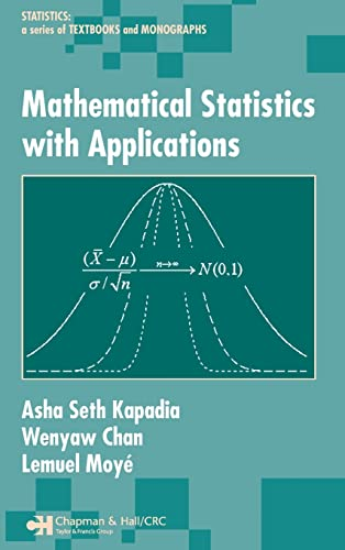 9780824754006: Mathematical Statistics With Applications (Statistics:  A Series of Textbooks and Monographs)