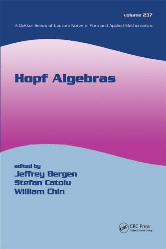 9780824755669: Hopf Algebras (Lecture Notes in Pure and Applied Mathematics)