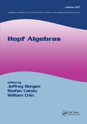 Hopf Algebras