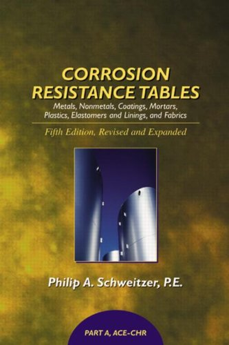9780824756727: Corrosion Resistance Tables: Metals, Nonmetals, Coatings, Mortars, Plastics, Elastomers, and Linings and Fabrics, Fifth Edition (4 Volume Set) (Corrosion Technology)
