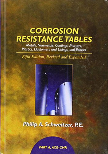 9780824756734: Corrosion Resistance Tables: Metals, Nonmetals, Coatings, Mortars, Plastics, Elastomers and Linings, and Fabrics (Part A)