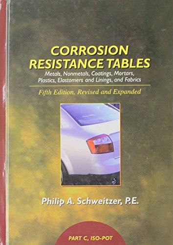 9780824756758: Corrosion Resistance Tables: Metals, Nonmetals, Coatings, Mortars, Plastics, Elastomers and Linings, and Fabrics (Part C)