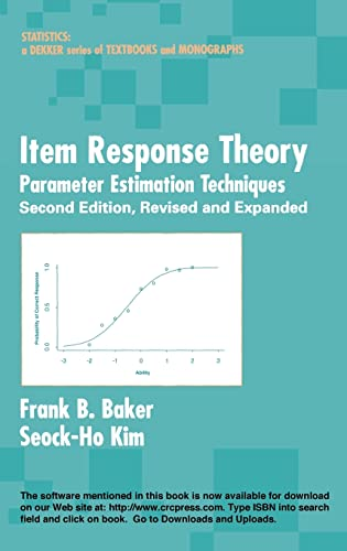 9780824758257: Item Response Theory: Parameter Estimation Techniques, Second Edition (Statistics: A Series of Textbooks and Monographs)
