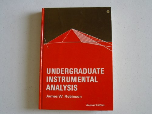 9780824760823: Undergraduate Instrumental Analysis.