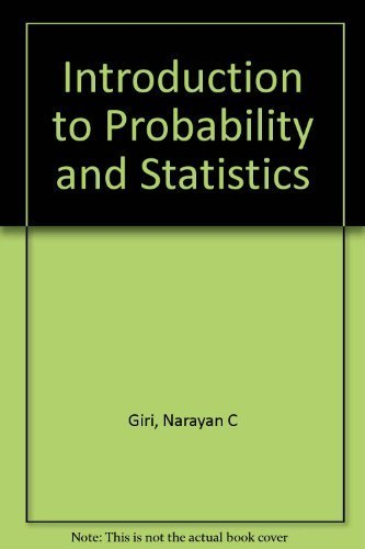 9780824761103: Introduction to probability and statistics (Statistics: textbooks and monographs)