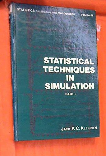 9780824761578: Statistical Techniques in Simulation, Vol  1