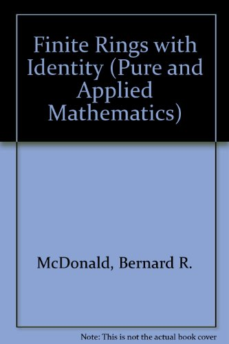 9780824761615: Finite Rings With Identity (Pure and Applied Mathematics)