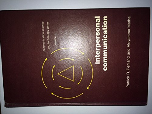 Interpersonal communication: Counseling, guidance, and retrieval for: Patrick R Penland