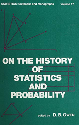 9780824763909: On the History of Statistics and Probability: Proceedings (Statistics: Textbooks & Monographs Volume 17)