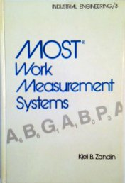 9780824768997: Most Work Measurement Systems (Industrial Engineering / 3)