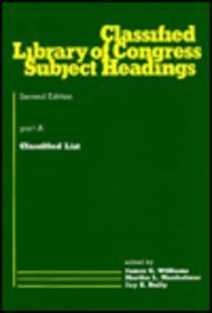 9780824769581: Classified Library of Congress Subject Headings: Part A