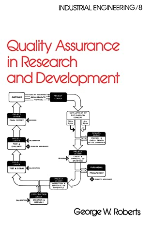 9780824770716: Quality Assurance in Research and Development (Industrial Engineering: A Series of Reference Books and Textboo)