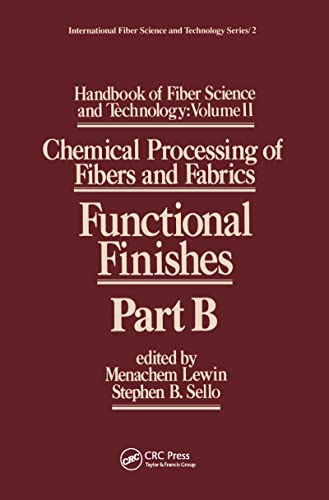 Handbook of Fiber Science and Technology: Volume