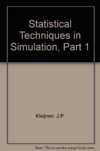 Statistical Techniques in Simulation, Part 1: J.P. Kleijnen (Author)
