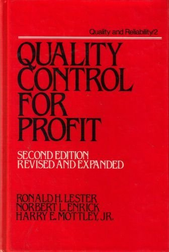 9780824774240: Quality Control for Profit (Quality and Reliability Series)