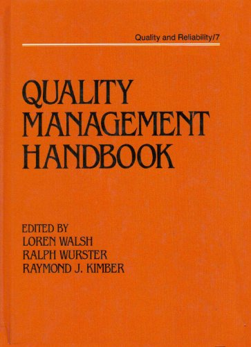 9780824774387: Quality Management Handbook