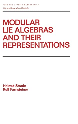 9780824775940: Modular Lie Algebras and their Representations (Chapman & Hall/CRC Pure and Applied Mathematics)