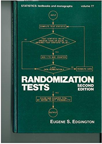 9780824776565: Randomization Tests (Statistics: A Series of Textbooks and Monographs, Volume 77)