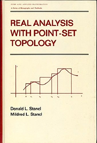 9780824777906: Real Analysis With Point-Set Topology (Pure & Applied Mathematics)