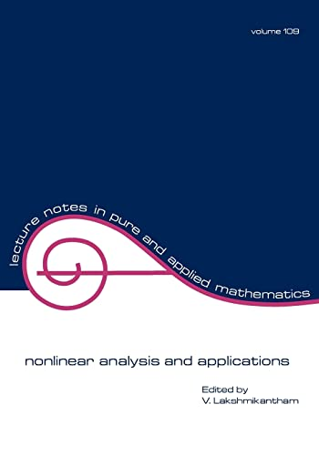 nonlinear analysis and applications Lecture Notes in Pure and Applied Mathematics: Lakshmikantham