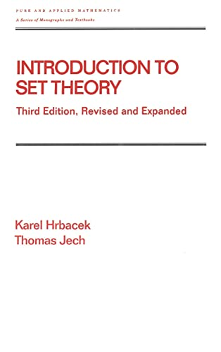 9780824779153: Introduction to Set Theory, Third Edition, Revised and Expanded (Chapman & Hall/CRC Pure and Applied Mathematics)