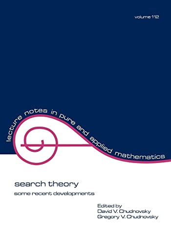 9780824780005: Search Theory: Some Recent Developments (Lecture Notes in Pure and Applied Mathematics)