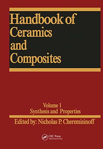 9780824780050: 1: Handbook of Ceramics and Composites: Synthesis and Properties