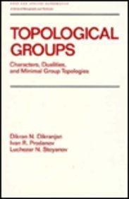 9780824780470: Monographs and Textbooks in Pure and Applied Mathematics: Topological Groups Vol 130: Characters, Dualities, and Minimal Group Topoligies
