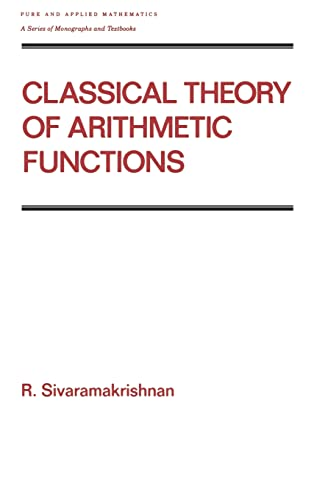 9780824780814: Classical Theory of Arithmetic Functions