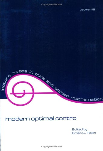 9780824781682: Modern Optimal Control: A Conference in Honor of Solomon Lefschetz and Joseph P. La Salle (Lecture Notes in Pure and Applied Mathematics)