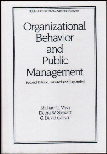 9780824783341: Organizational Behavior and Public Management