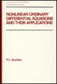 9780824783648: Nonlinear Ordinary Differential Equations and Their Applications