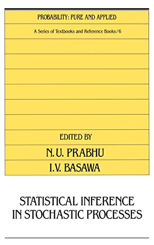 9780824784171: Statistical Inference in Stochastic Processes (Probability: Pure and Applied)