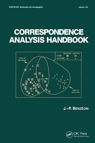 Correspondence Analysis Handbook (Hardback): J. P. Benzecri
