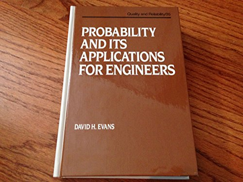 9780824786564: Probability and its Applications for Engineers (Quality and Reliability)