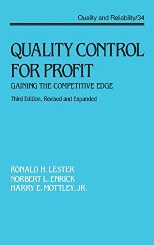 Quality Control for Profit: Gaining the Competitive: Ronald H. Lester,