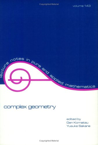 9780824788186: Complex Geometry (Lecture Notes in Pure and Applied Mathematics)