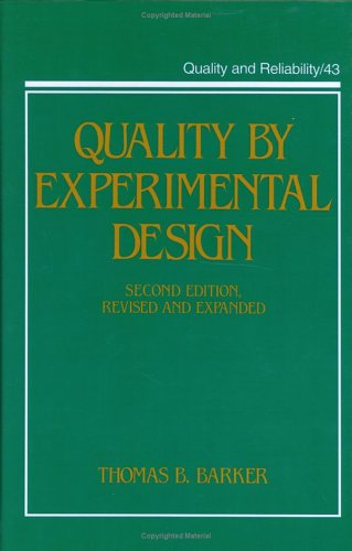 9780824789107: Quality by Experimental Design (Neurological Disease and Therapy)