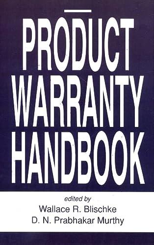 Product Warranty Handbook (Hardback): Wallace Blischke