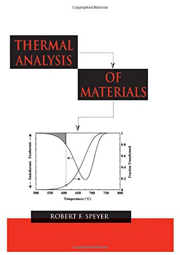 9780824789633: Thermal Analysis of Materials (Materials Engineering)