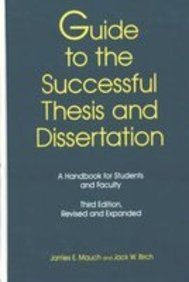9780824789725: Guide to the Successful Thesis & Dissertation