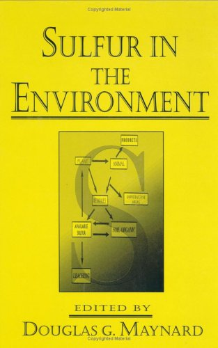 Sulfur In The Environment (Books In Soils, Plants & The Environment)