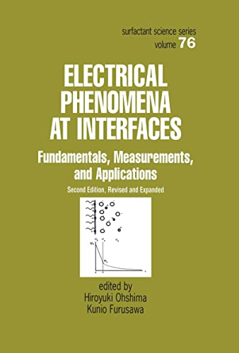 9780824790394: Electrical Phenomena at Interfaces, Second Edition,: Fundamentals: Measurements, and Applications (Surfactant Science)