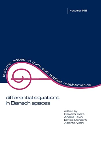 9780824790677: Differential Equations in Banach Spaces